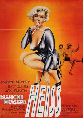 Some Like It Hot - 27 x 40 Movie Poster - German Style A
