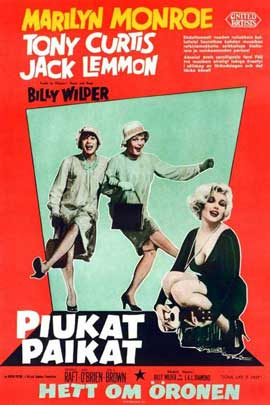 Some Like It Hot - 11 x 17 Movie Poster - Danish Style A