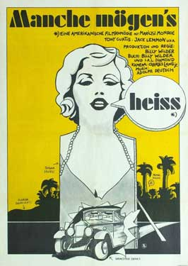 Some Like It Hot - 11 x 17 Movie Poster - German Style B