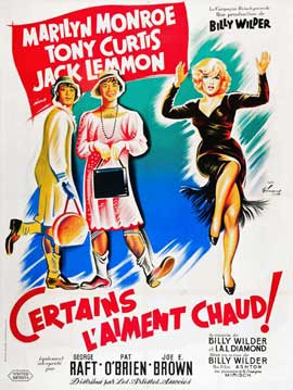 Some Like It Hot - 27 x 40 Movie Poster - French Style C