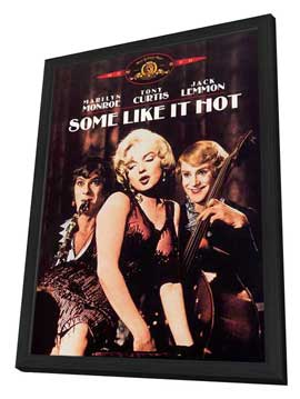 Some Like It Hot - 11 x 17 Movie Poster - Style G - in Deluxe Wood Frame