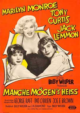 Some Like It Hot - 27 x 40 Movie Poster - German Style B