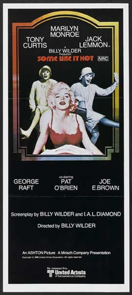 Some Like It Hot - 13 x 30 Movie Poster - Australian Style A