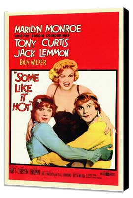 Some Like It Hot - 11 x 17 Movie Poster - Style A - Museum Wrapped Canvas