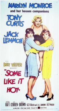 Some Like It Hot - 11 x 17 Movie Poster - Style E - Museum Wrapped Canvas