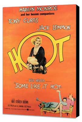 Some Like It Hot - 11 x 17 Movie Poster - Style F - Museum Wrapped Canvas