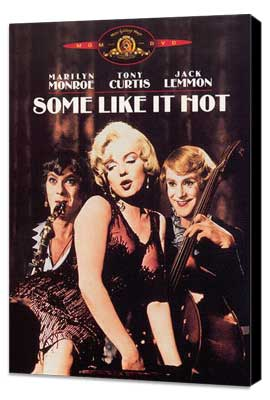 Some Like It Hot - 27 x 40 Movie Poster - Style C - Museum Wrapped Canvas