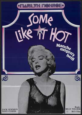 Some Like It Hot - 11 x 17 Movie Poster - German Style G