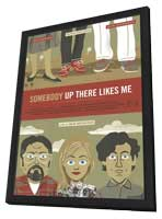 Somebody Up There Like Me - 27 x 40 Movie Poster - Style A - in Deluxe Wood Frame