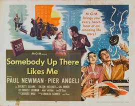 Somebody Up There Likes Me - 22 x 28 Movie Poster - Half Sheet Style A