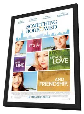 Something Borrowed - 27 x 40 Movie Poster - Style A - in Deluxe Wood Frame
