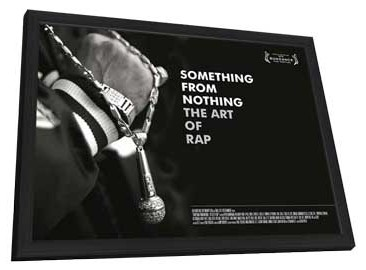 Something from Nothing: The Art of Rap - 27 x 40 Movie Poster - Style A - in Deluxe Wood Frame