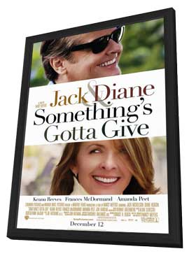Something's Gotta Give - 11 x 17 Movie Poster - Style A - in Deluxe Wood Frame