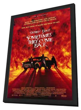 Sometimes They Come Back - 27 x 40 Movie Poster - Style A - in Deluxe Wood Frame