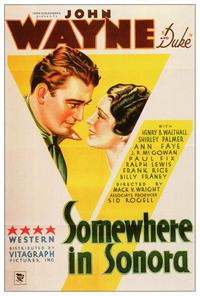 Somewhere in Sonora - 27 x 40 Movie Poster - Style A
