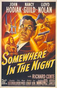 Somewhere in the Night - 11 x 17 Movie Poster - Style A