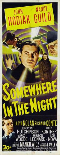Somewhere in the Night - 14 x 36 Movie Poster - Insert Style A