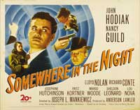 Somewhere in the Night - 22 x 28 Movie Poster - Half Sheet Style A