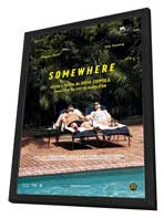 Somewhere - 27 x 40 Movie Poster - Italian Style A - in Deluxe Wood Frame
