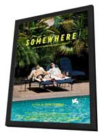 Somewhere - 27 x 40 Movie Poster - French Style A - in Deluxe Wood Frame