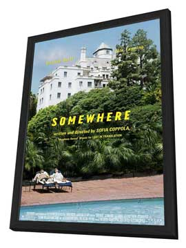 Somewhere - 11 x 17 Movie Poster - Style A - in Deluxe Wood Frame