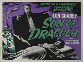 Son of Dracula - 30 x 40 Movie Poster UK - Style A