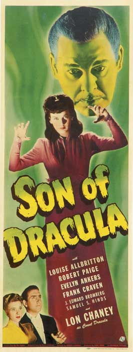 Son of Dracula - 14 x 36 Movie Poster - Insert Style A