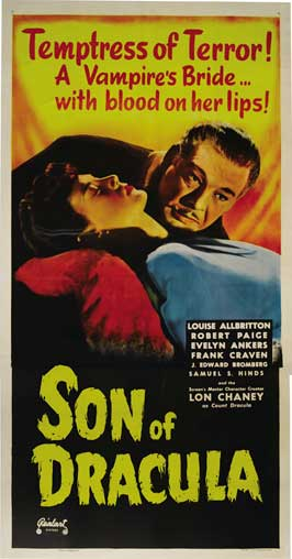 Son of Dracula - 20 x 40 Movie Poster - Style A