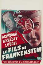Son of Frankenstein - 27 x 40 Movie Poster - Belgian Style A