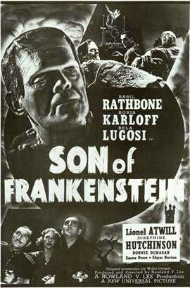 Son of Frankenstein - 11 x 17 Movie Poster - Style G