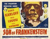 Son of Frankenstein - 27 x 40 Movie Poster - UK Style A