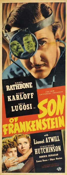 Son of Frankenstein - 14 x 36 Movie Poster - Insert Style A