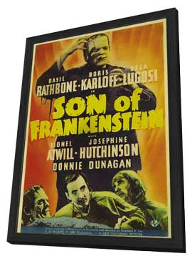 Son of Frankenstein - 27 x 40 Movie Poster - Style C - in Deluxe Wood Frame
