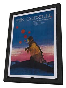 Son of Godzilla - 27 x 40 Movie Poster - Polish Style A - in Deluxe Wood Frame