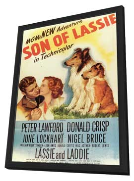 Son of Lassie - 11 x 17 Movie Poster - Style A - in Deluxe Wood Frame