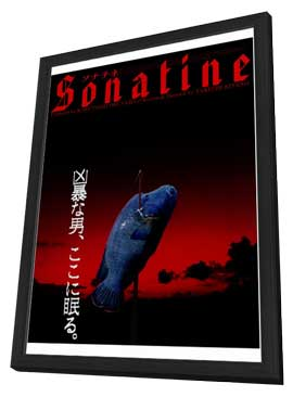 Sonatine - 27 x 40 Movie Poster - Japanese Style A - in Deluxe Wood Frame