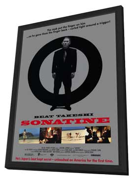 Sonatine - 11 x 17 Movie Poster - Style A - in Deluxe Wood Frame