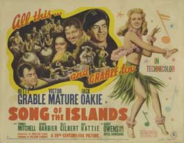 Song of the Islands - 22 x 28 Movie Poster - Half Sheet Style A