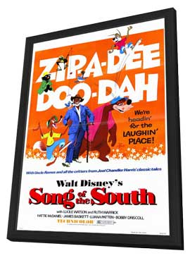 Song of the South - 11 x 17 Movie Poster - Style A - in Deluxe Wood Frame