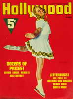 Sonja Henie - 11 x 17 Hollywood Magazine Cover 1940's Style A