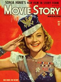 Sonja Henie - 11 x 17 Movie Story Magazine Cover 1940's