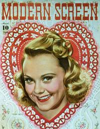 Sonja Henie - 11 x 17 Modern Screen Magazine Cover 1930's Style B