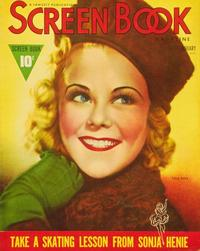Sonja Henie - 11 x 17 Screen Book Magazine Cover 1930's