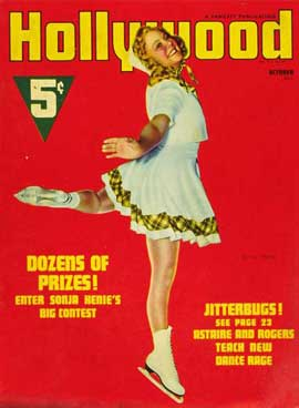 Sonja Henie - 27 x 40 Movie Poster - Hollywood Magazine Cover 1940's Style A