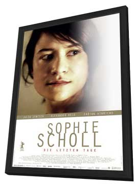 Sophie Scholl: The Final Days - 27 x 40 Movie Poster - German Style A - in Deluxe Wood Frame