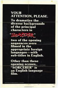 Sorcerer - 27 x 40 Movie Poster - Style C