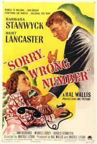 Sorry, Wrong Number - 11 x 17 Movie Poster - Style A
