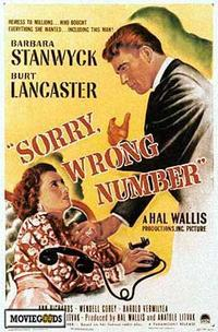 Sorry, Wrong Number - 43 x 62 Movie Poster - Bus Shelter Style A