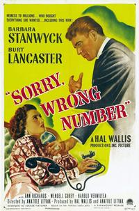 Sorry, Wrong Number - 11 x 17 Movie Poster - Style D