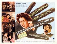 Sorry, Wrong Number - 11 x 17 Movie Poster - UK Style A